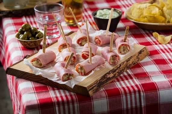 Ham rolletjes met HEKS'NKAAS®
