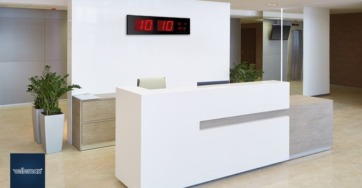 LED display clock. 24-hour clock with time and date display.