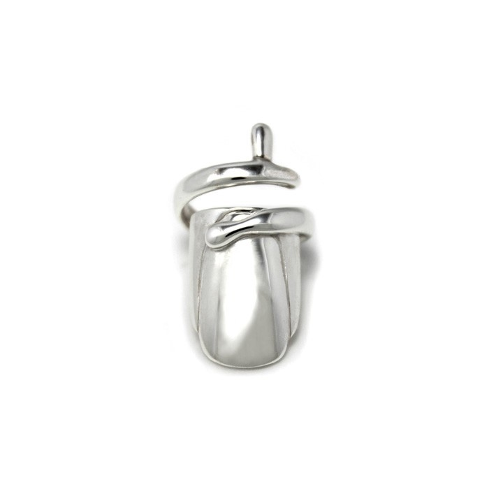The Fingernail Ring in sterling silver hand crafted by Benjamin Black Goldsmiths. $99- (NZD) Free international shipping