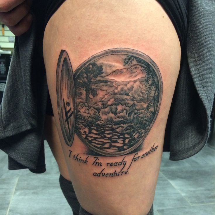 Hobbit hole tattoo! Love my newest ink #tattoo #hobbit ...