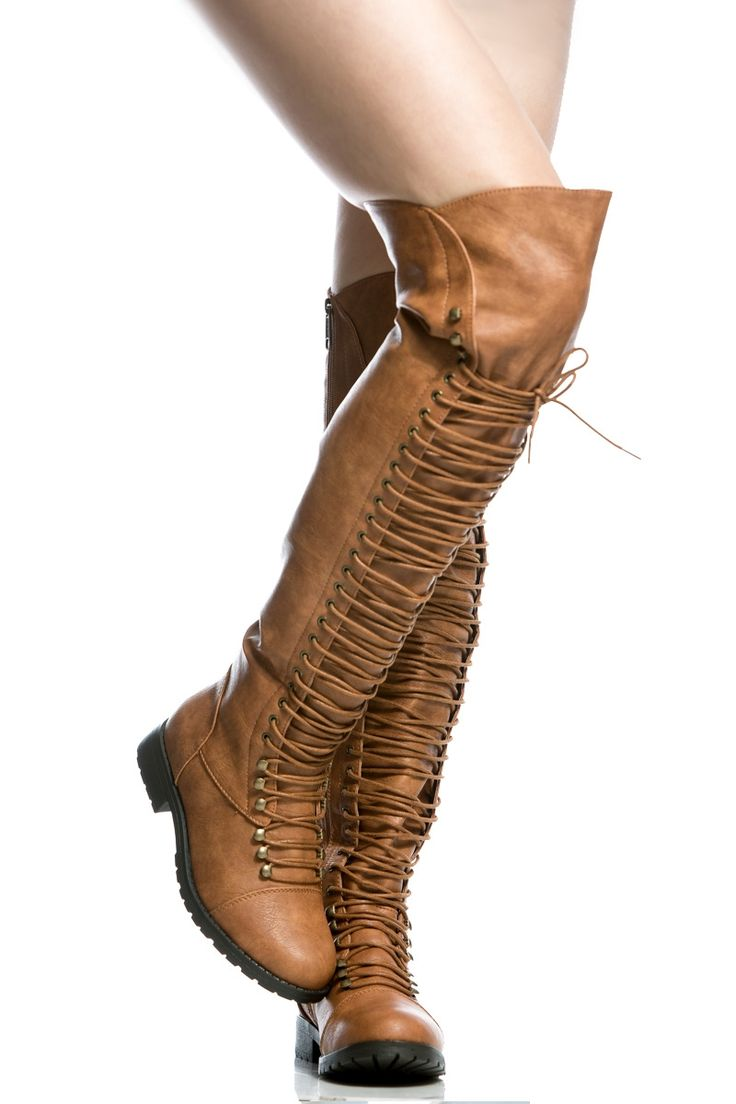 Camel Faux Leather Thigh High Combat Boots @ Cicihot Boots Catalog:women's winter boots,leather thigh high boots,black platform knee high boots,over the knee boots,Go Go boots,cowgirl boots,gladiator boots,womens dress boots,skirt boots.