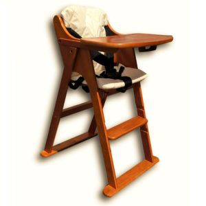 Folding Wooden Baby High Chair