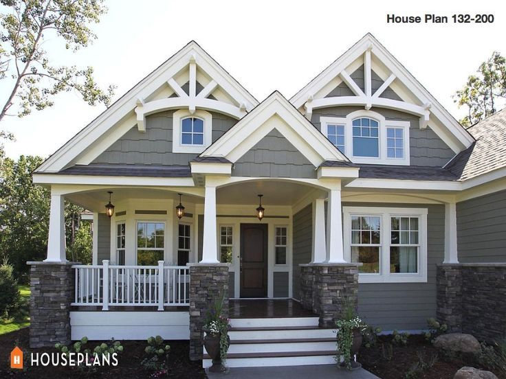 Medium Sized Houses Craftsman House Plans Craftsman House House Exterior
