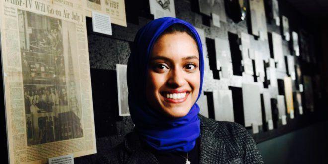 أمريكا طاهرة رحمان أول مقدمة أخبار محجبة بالقناة المحلية 4نيوز زهرة الشرق