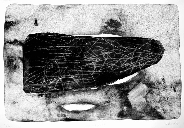 """Witold Winek """"BLK object II"""", 100X70, relief print, 2015"""