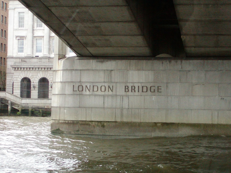"""The famous """"London Bridge"""", London England.  This bridge replaced an earlier bridge which was built in 1831. In 1967 the bridge was sold for $US 2.5 million dollars, sent by ship to Lake Havasu City Arizon, costing another $US 7 million dollars to rebuild and opened in 1971. It is said to be the second most popular tourist attraction after the Grand Canyon in Arizona.    photo by jadoretotravel"""