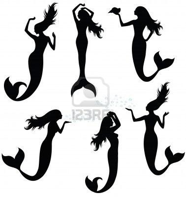 mermaid silhouette vector
