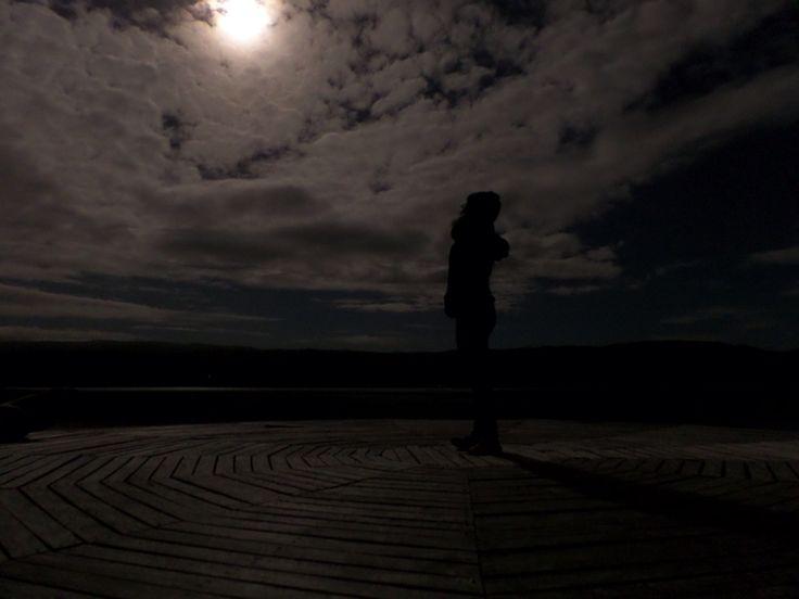Luna llena, lago Cucao, Chiloe