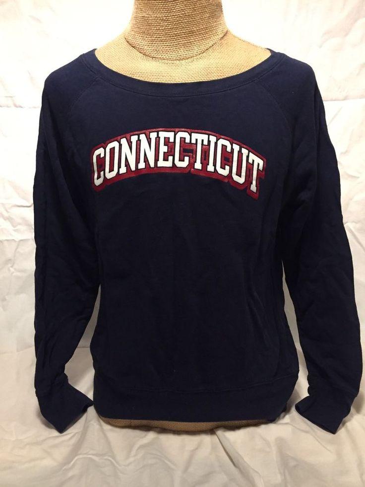 #connecticut  Russell Athletic Sweatshirt UConn Huskies Top University Blue Large #RussellAthletic #Sweatshirt #UCONN #basketball #huskies