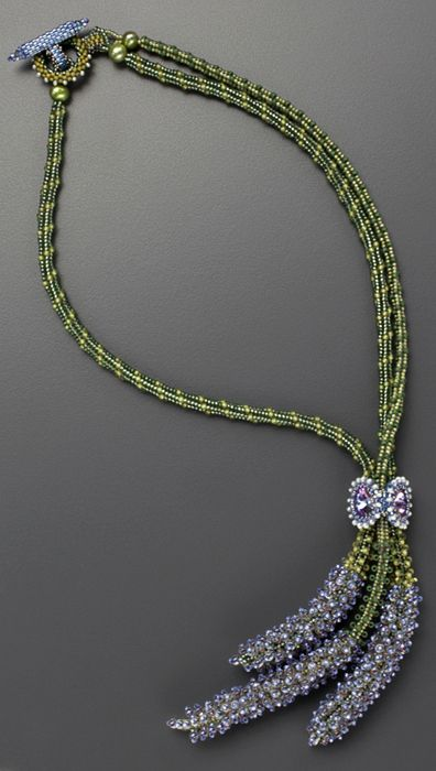 Bouquet de Lavande Beaded Necklace by Laura McCabe