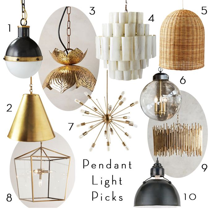 BECKI OWENS - Pendant Lighting Roundup. Sources and more favorites on beckiowens.com and @shopbeckiowens.