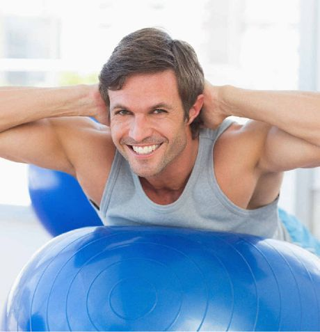 ON THE BALL: Give dad a little motivation to improve his health with a fitness-related gift this Father's Day. | #fitness #exercise #menshealth