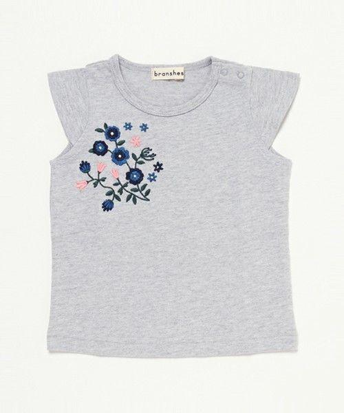 BRANSHES 【吸汗速乾】刺繍入り半袖Tシャツ