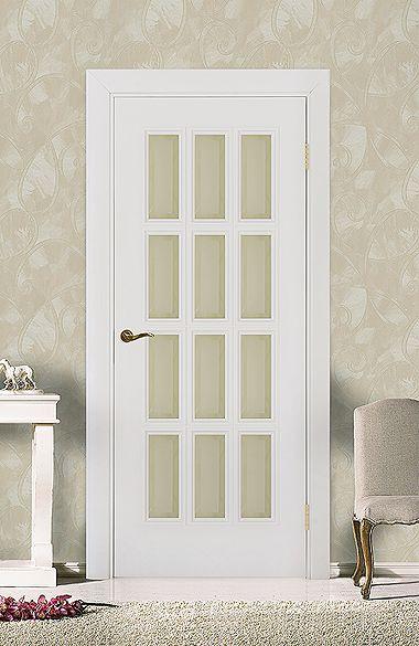 Межкомнатная дверь «Парма В». Отделка «белая эмаль» #дверирулес #двери…