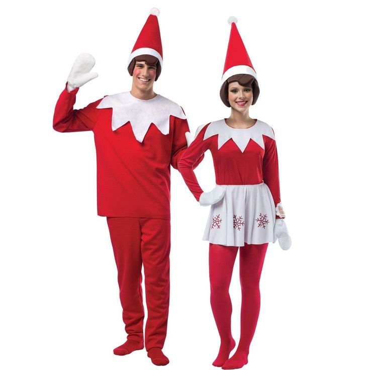 Adult Elf on The Shelf Couples Costume from Buycostumes.com