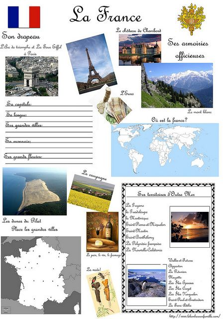 Fiche pays france  by levoyagedesnainbus, via Flickr
