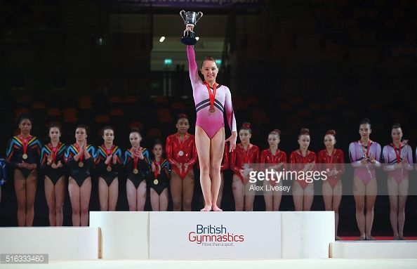 Amy Tinkler of the British Gymnastics Team during Women's National Senior Team Championships at the Emirates Arena on March 13, 2016 in Glasgow, Scotland.