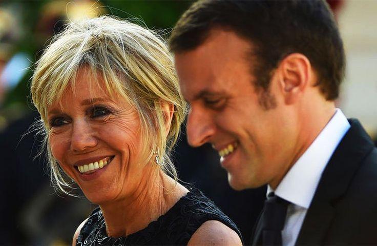 Brigitte Trogneux-Macron  Mariée en 2007 avec le candidat centriste Emmanuel Macron, Brigitte a 20 ans de plus que son mari. Professeure de français et passionnée de théâtre, c'est au lycée La Providence d'Amiens qu'elle a rencontré Macron alors qu'il n'avait que 17 ans.
