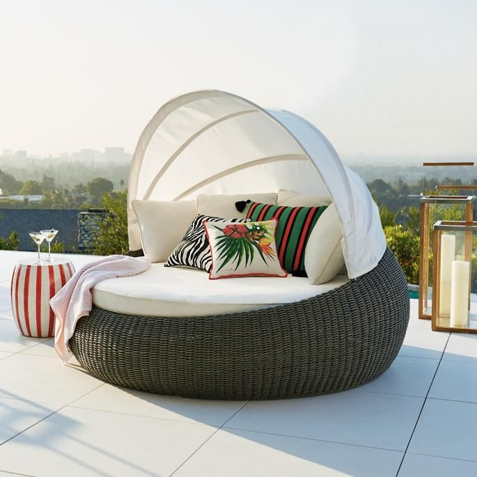 Boden Daybed Frontgate Hanging, Baleares Daybed Outdoor Furniture Cover