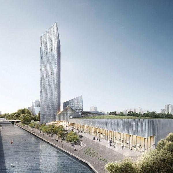 Invited competition tower tangram barkow leibinger for Berlino hotel design