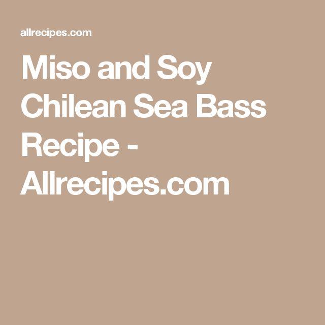 Miso and Soy Chilean Sea Bass Recipe - Allrecipes.com