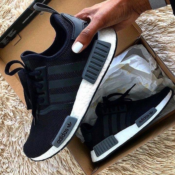 Adidas NMD R1 Black Shoes | Black adidas shoes, Addidas shoes ...