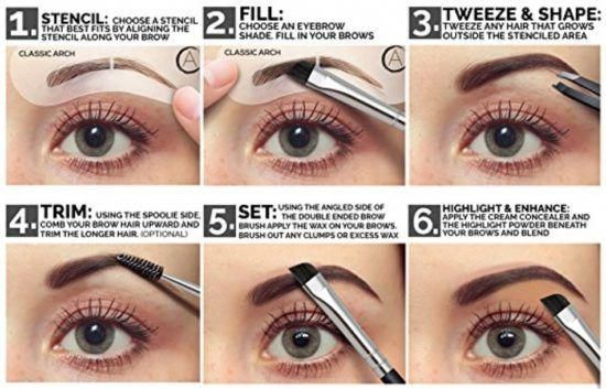How To Use Eyebrow Stencils Tutorial Easy Video ...