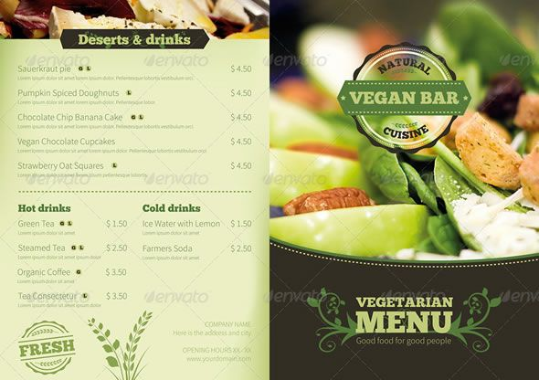 Vegetarian Restaurant Food Menu