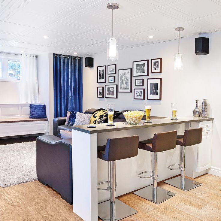 comptoir bar dans le sous sol salon inspirations. Black Bedroom Furniture Sets. Home Design Ideas