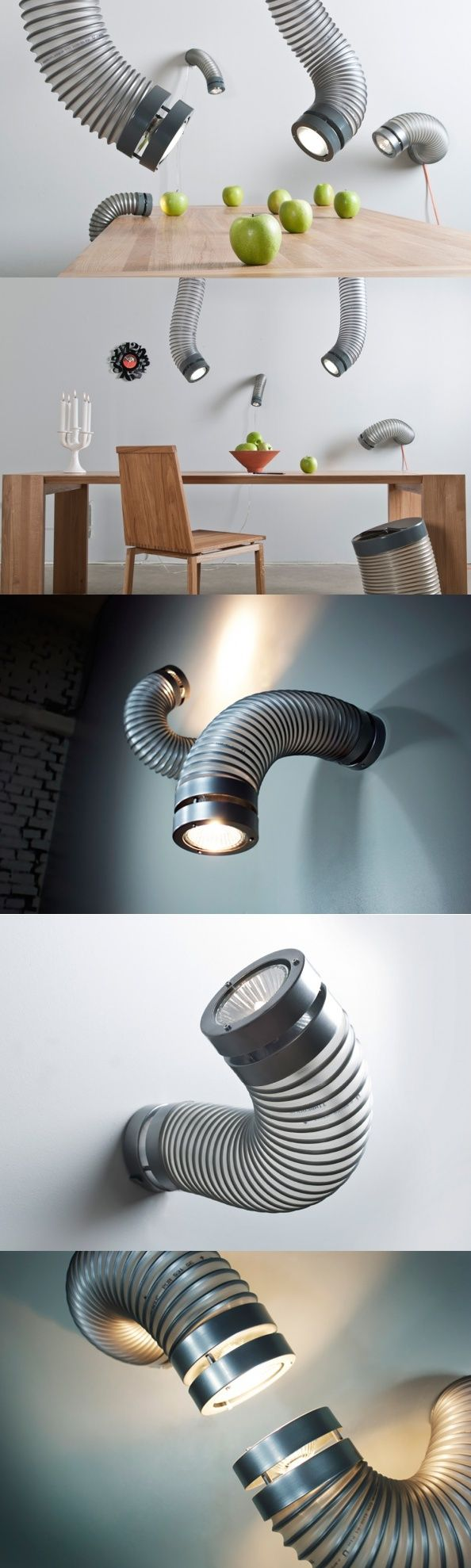 This wall or #ceiling mounted #luminaire called Throat brings a touch of…