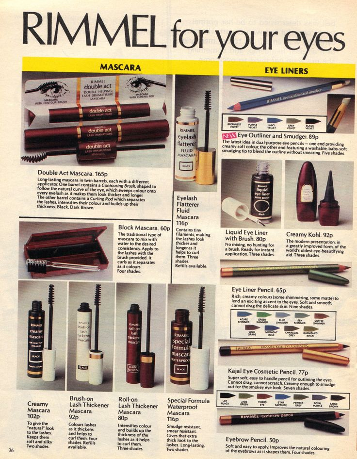 The Way We Wore - advert from a 1982 magazine for Rimmel London cosmetics - I remember!