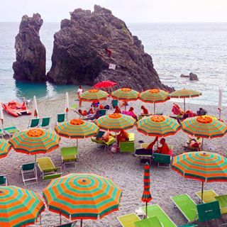 Endless colour in Monterosso. The most beautiful beach I've ever seen, so far!     See more travel diaries on: http://www.kisforkani.com/category/travel/
