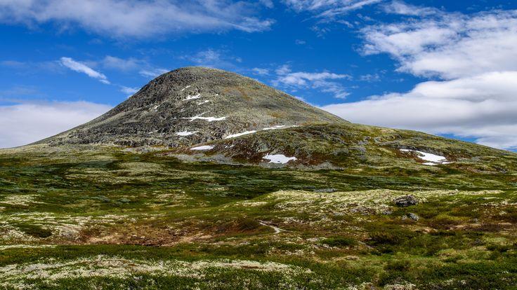 1424 meters, at the top of the mountain passage between Gudbrandsdalen and Østerdalen.
