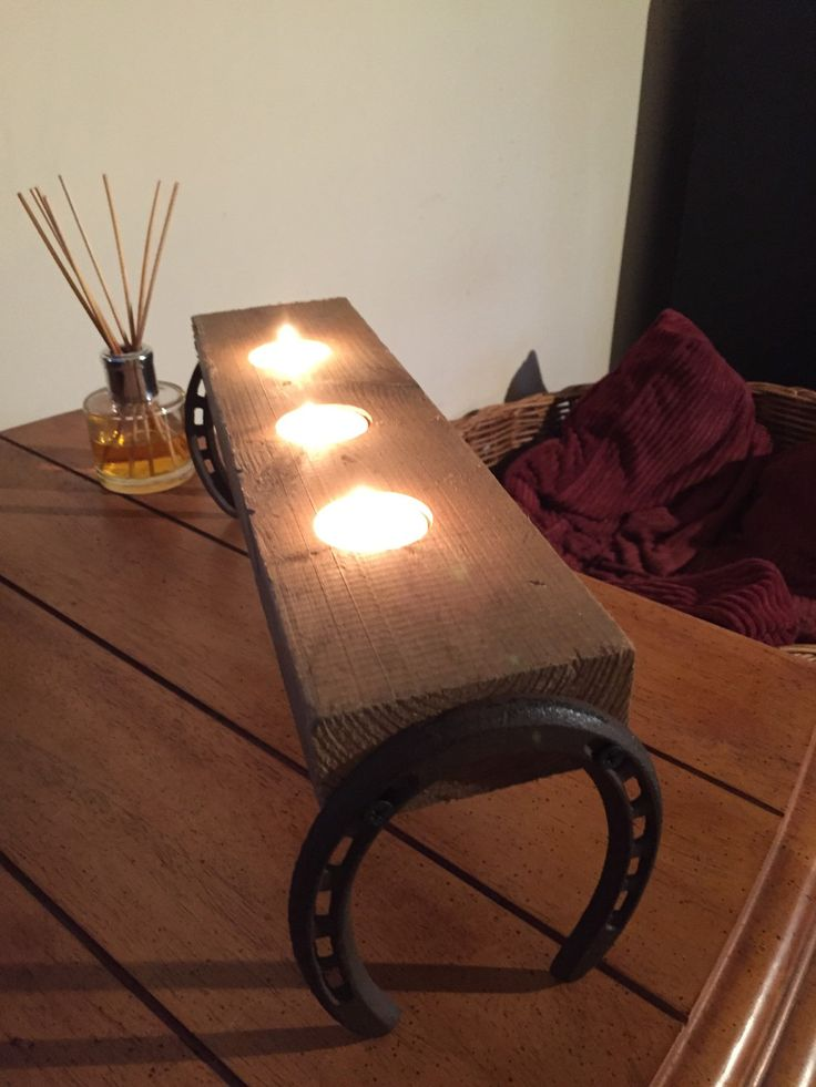 Horse lovers present, shabby chic, Rustic cast iron horseshoe candle holder by Rusticdesignsuk on Etsy