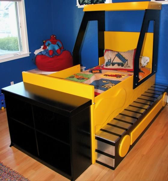 Bulldozer bed this would have been perfect for braden when he was little sandragaroutte i - Toddler beds for boys ...