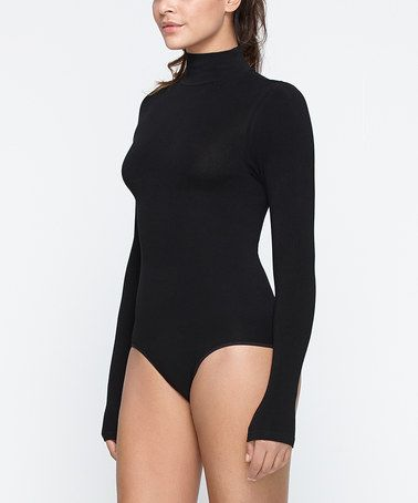 Loving this Black Turtleneck Bodysuit - Women on #zulily! #zulilyfinds