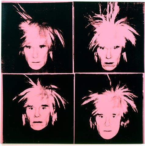 #AndyWarhol, Self-Portrait, 1986; painting; synthetic polymer paint and silkscreen ink on canvas, 80 x 80 inches. Collection SFMOMA, Collection of Vicki and Kent Logan, fractional and promised gift to the San Francisco Museum of Modern Art; © The Andy Warhol Foundation for the Visual Arts, Inc. / Artists Rights Society (ARS), New York