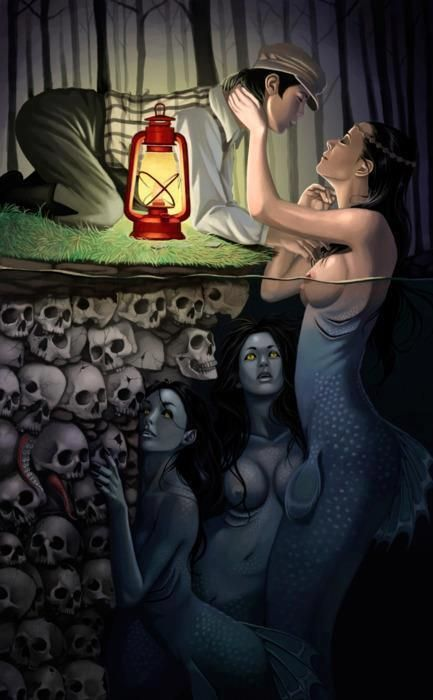 Siren (mermaid who lures men to their deaths) --- this is just a cool pic :)