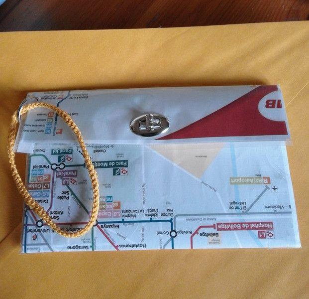 Portadocumenti - portadocumenti pochette metro Barcellona - un prodotto unico di bandullera su DaWanda