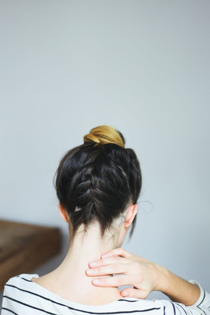 tutorial: braided top knot