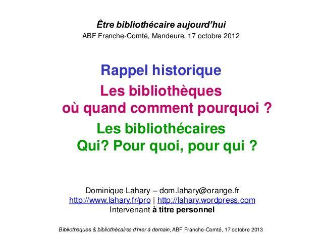 biblioth u00e8ques et biblioth u00e9caires d u2019hier  u00e0 demain