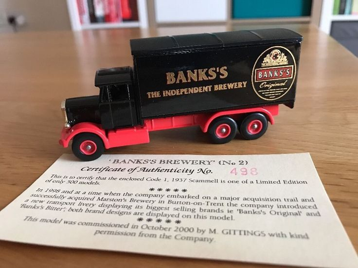 Rare Lledo Diecast Model Banks' Brewery 1973 Scammell Truck 498 Of Just 500 Made  | eBay