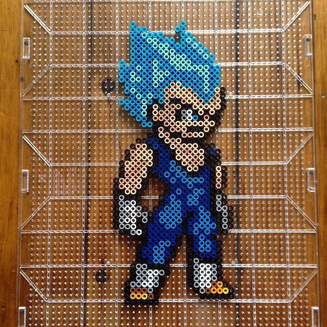 Vegeta Super Saiyan God -  Dragon Ball perler beads by mastablasta3