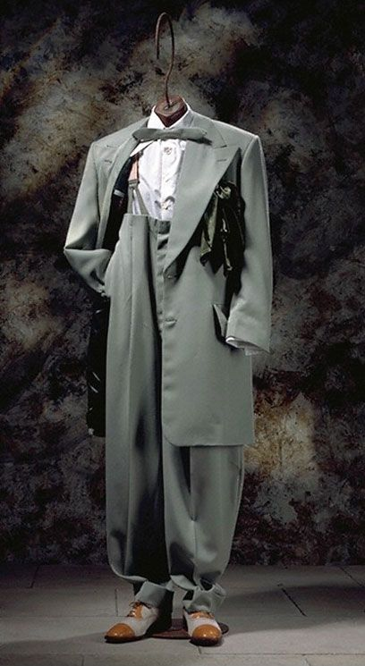1940 Zoot Suit | Recreated zoot suit, Chris Ruocco Tailors, 1994. Museum numbers T.961 ...