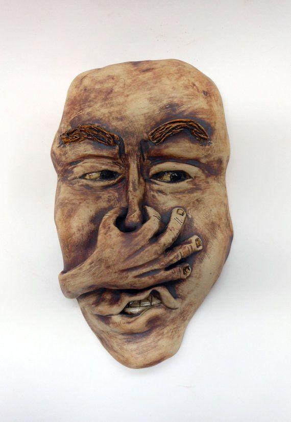 Stinky Bathroom Wall Mask by Uturn on Etsy   75 00. Stinky Bathroom Wall Mask   Bathroom Wall  Masks and Bathroom