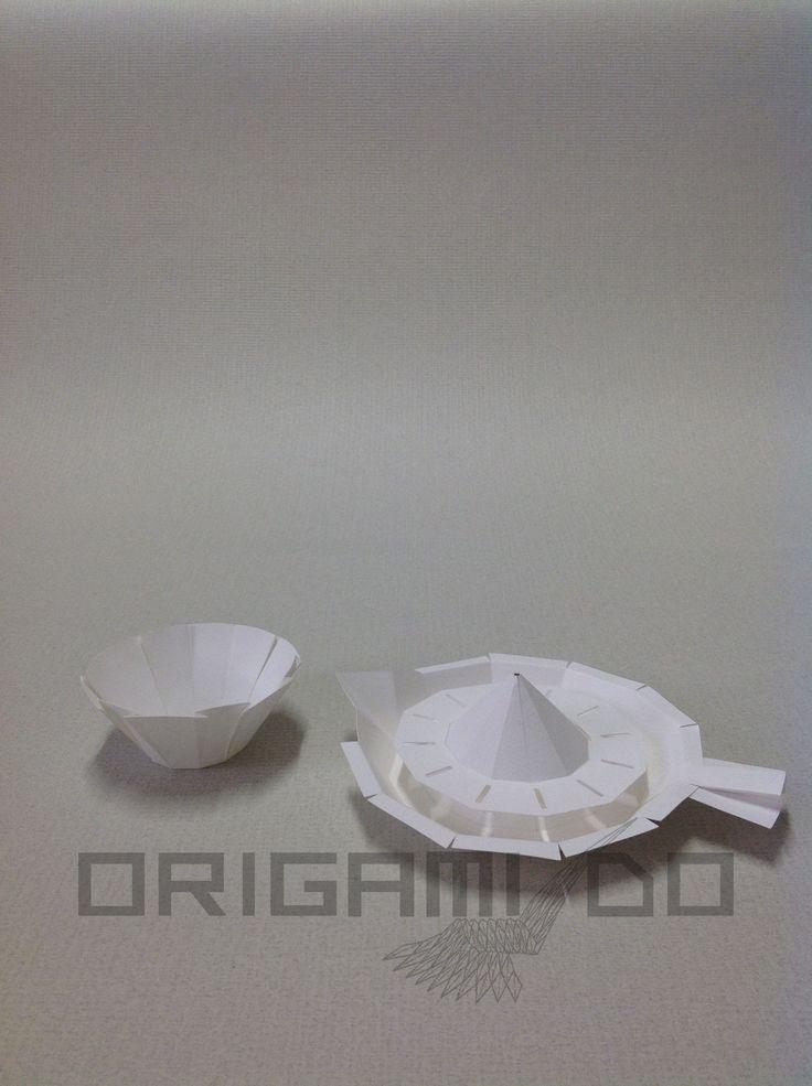 Origami Spremiagrumi e Ciotolina