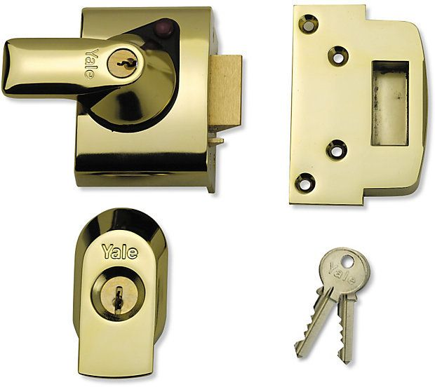 Yale Front Door Lock   Narrow Body   High Security Nightlatch   Backset    Polished Chrome   G Johns U0026 Sons Ltd   Architectural Ironmongery