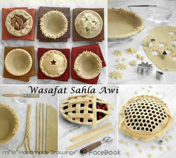 Criss cross cutout etc pie crust decorations for Apple pie decoration