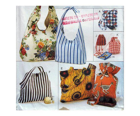 Tote Bags Sewing Pattern Quilted Handbag Glasses by HoneymoonBus