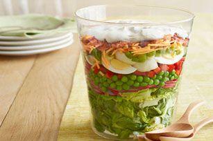 Blue Ribbon Layered Salad Recipe - Kraft Recipes